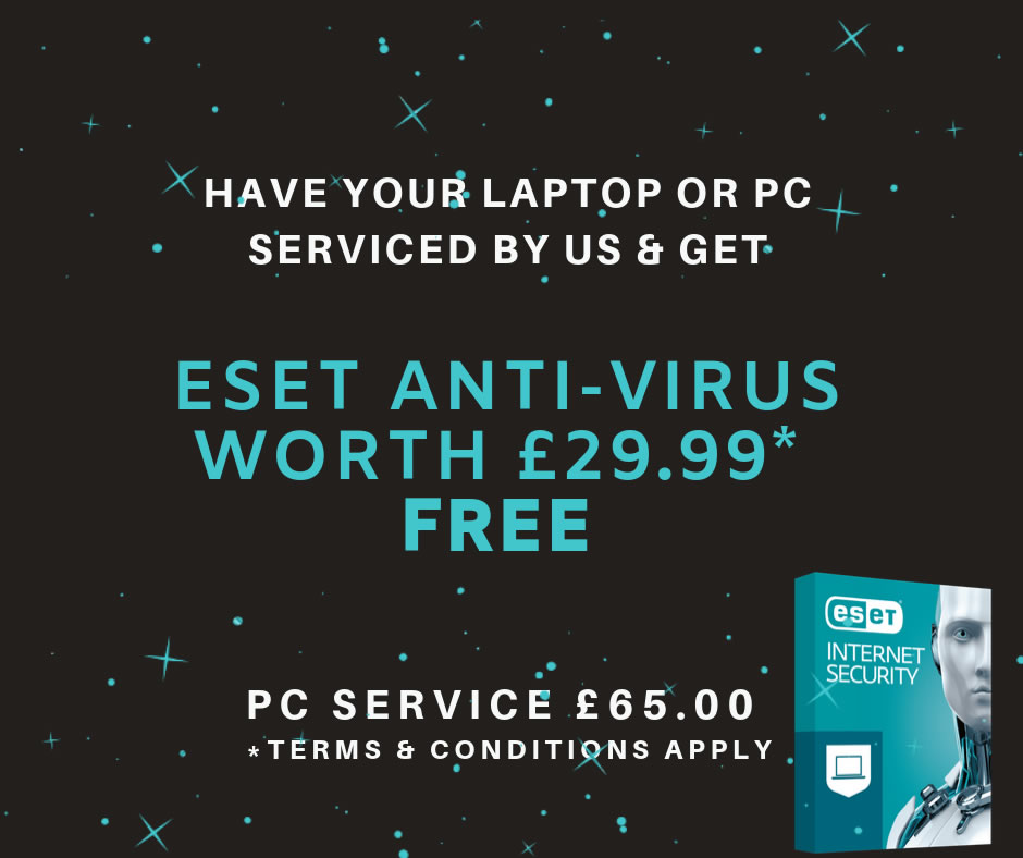 FREE ESET NOD32 WITH PC SERVICE!
